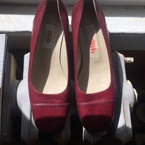 Burgundy flats shoes  wine color